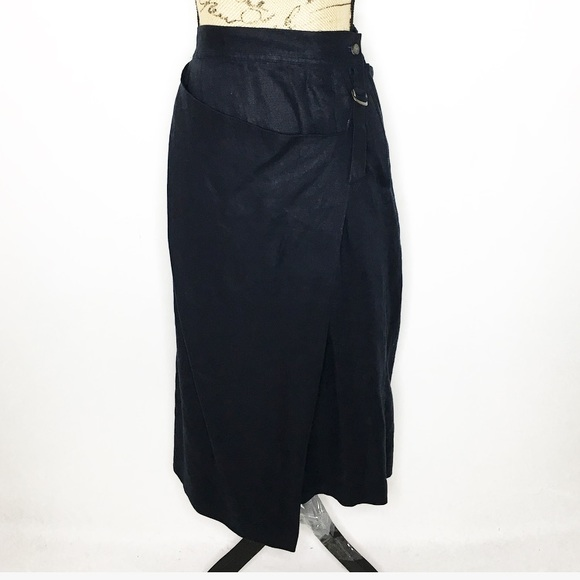 d4e539ab98 Issey Miyake Skirts | Plantation Linen Wrap Skirt | Poshmark